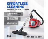 Cyclone Bagless Vacuum Cleaner - Red
