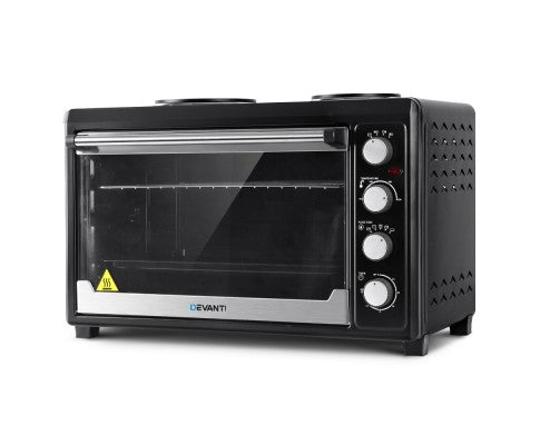 Electric Convection Oven 60L with Hotplates