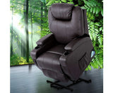 Electric Leather Recliner Lift Massage Chair