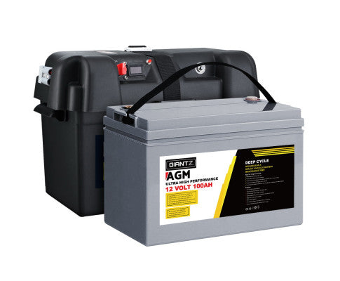 100Ah Deep Cycle Battery & Battery Box