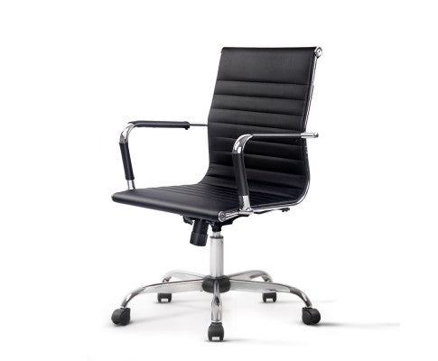 Executive Leather Office Chair - Black
