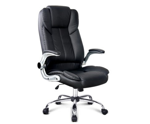 Leather Executive Office Desk Chair - Black