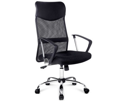 Leather Mesh High Back Office Chair