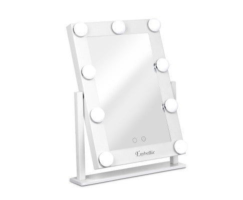 LED Standing Makeup Mirror - White