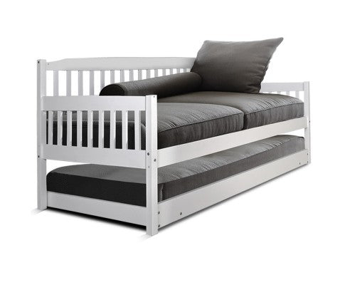 Single Wooden Trundle Bed Frame