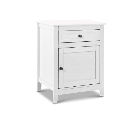 Bedside Table - White