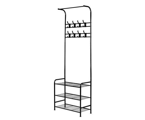 Metal Clothes Rack / Coat Stand - Black