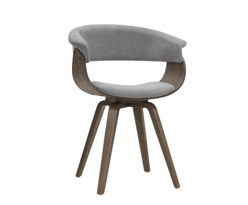 Retro Dining Chair - Grey