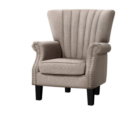 Armchair Lounge Chair Accent Chairs Armchairs Fabric Single Sofa Beige