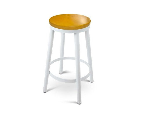 Set of 2 Wooden Stackable Bar Stools