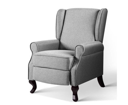 Recliner Luxury Lounge Armchair - Grey