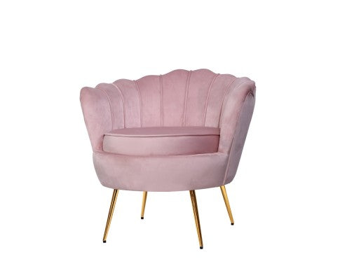 Retro Lounge Armchair Sofa - Pink