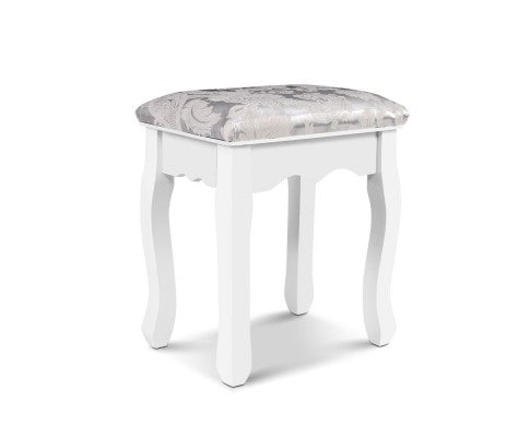 White Bedroom Dressing Stool