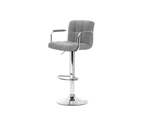 2 x Gas Lift Kithcen Bar Stools - Grey