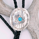 Bolo Tie - Silver w/Turquoise