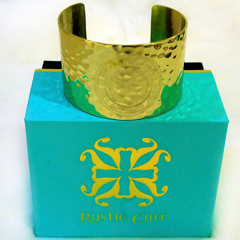 Rustic Cuff - Cherokee Nation Seal - Gold