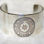 Rustic Cuff - Cherokee Nation Seal - Silver