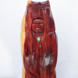 Wood Carving - Bear Skin Capped Man