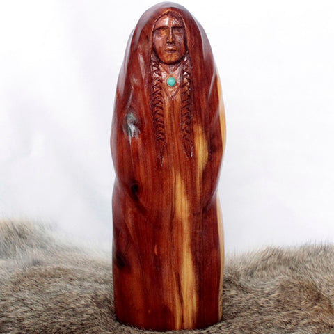 Wood Carving - Capped Woman