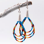 Earrings - Beaded Triple Loops