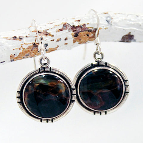 Earrings - Pietersite