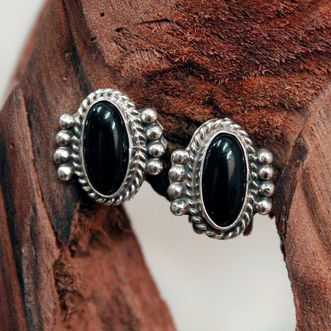 Earrings - Black Onyx - Clip On
