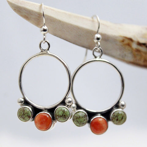 Earrings - Gaspeite and Spiny Oyster