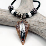 Necklace - Painted Arrowhead