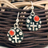 Earrings and Pendant Set - Coral