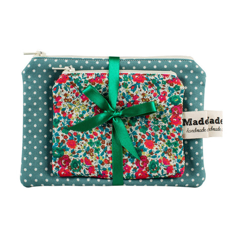 Green Wild Flower Purse Set