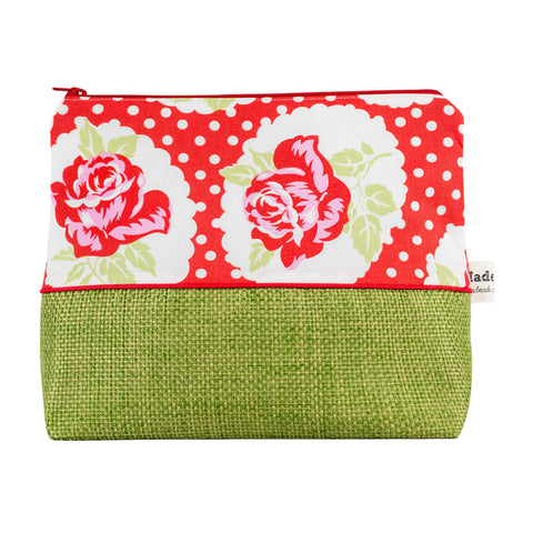 Red Country Rose Wash Bag