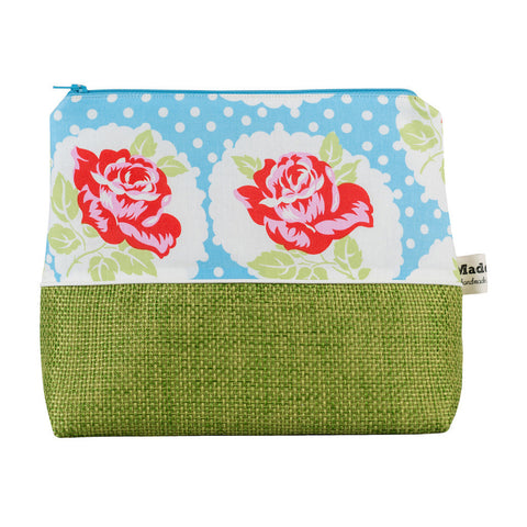 Blue Country Rose Wash Bag