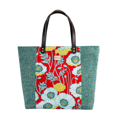Red Poppy Large Tote Bag