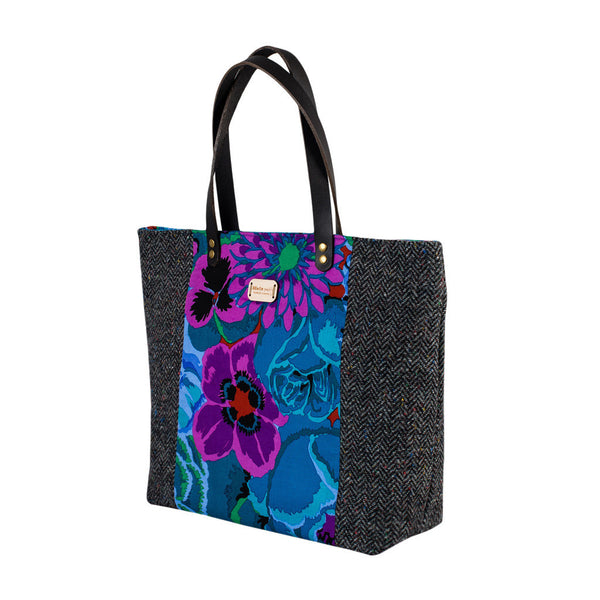 Blue Floral Large Tote Bag