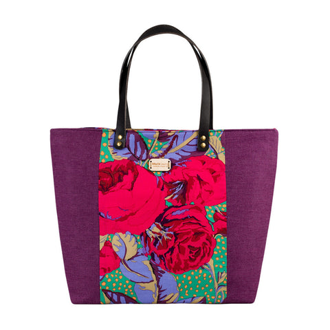 Damson Rose Large Tote Bag