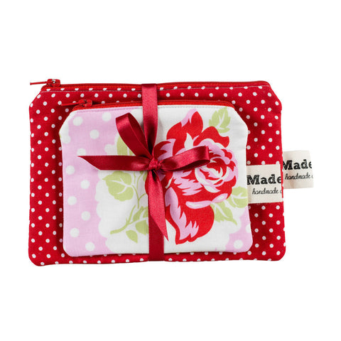 Pink Country Rose Purse Set