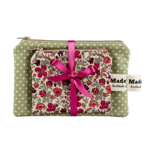 Sage Wild Flower Purse Set