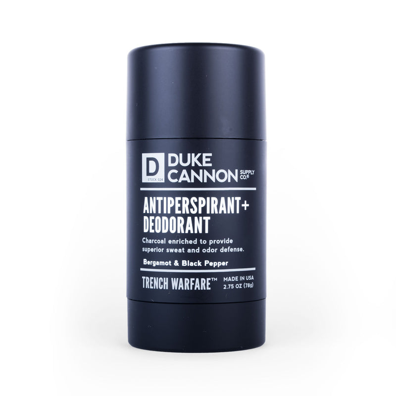 TRENCH WARFARE ANTIPERSPIRANT + DEODORANT (BERGAMOT & BLACK PEPPER)