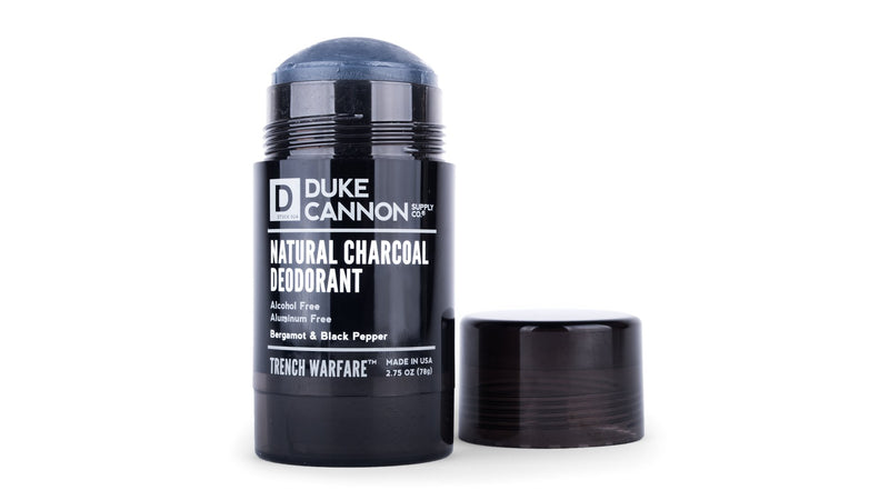 TRENCH WARFARE NATURAL CHARCOAL DEODORANT (BERGAMOT & BLACK PEPPER)