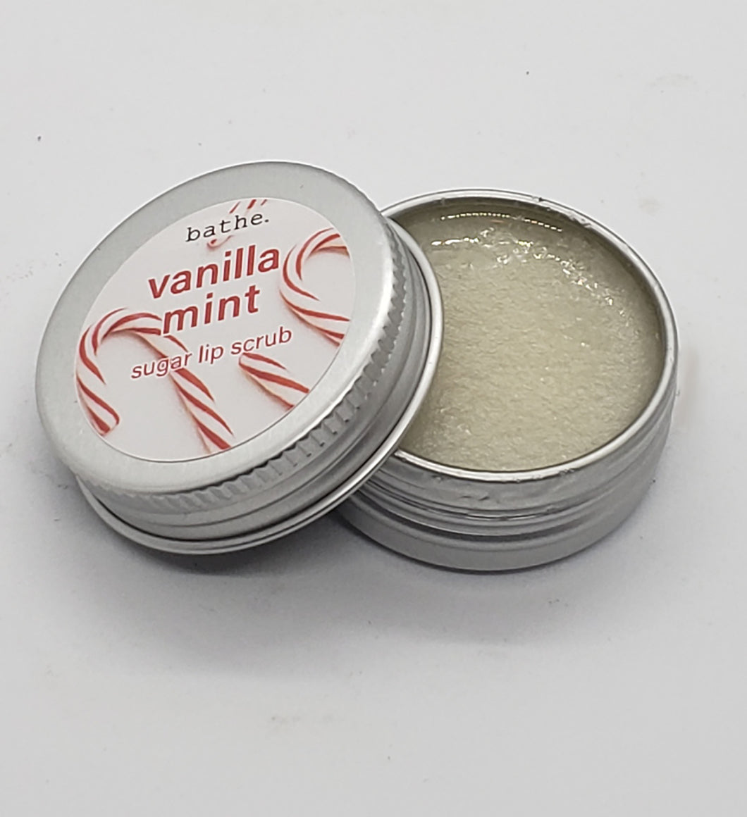 vanilla mint lip scrub