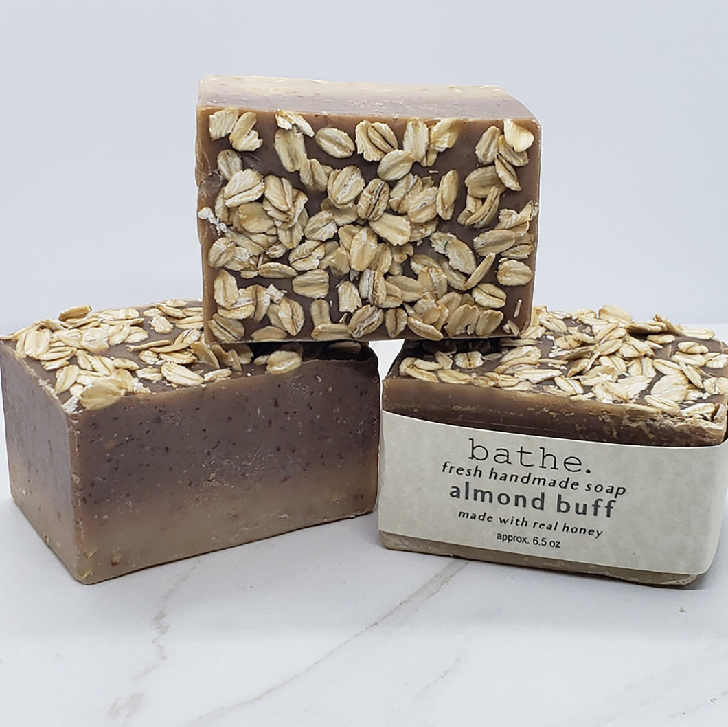 almond buff soap