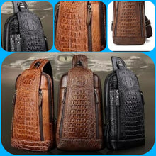 Load image into Gallery viewer, Men's Cross Body Croco Bags