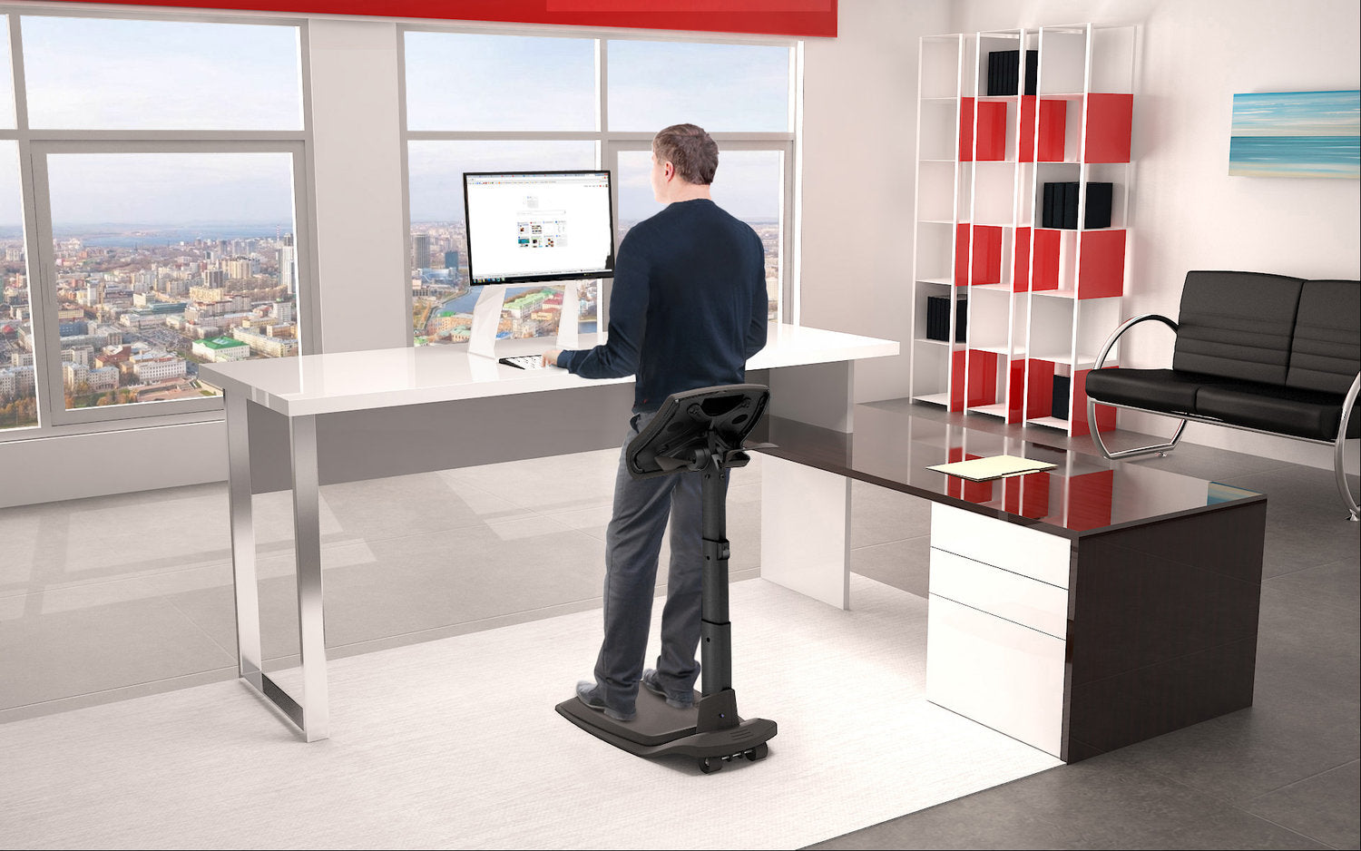 Reduce pain and fatigue with a standing chair