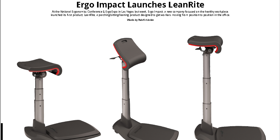Ergo Impact featured in Business of Furniture (BOF)