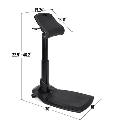 Dimensions of the LeanRIte Standing Chair