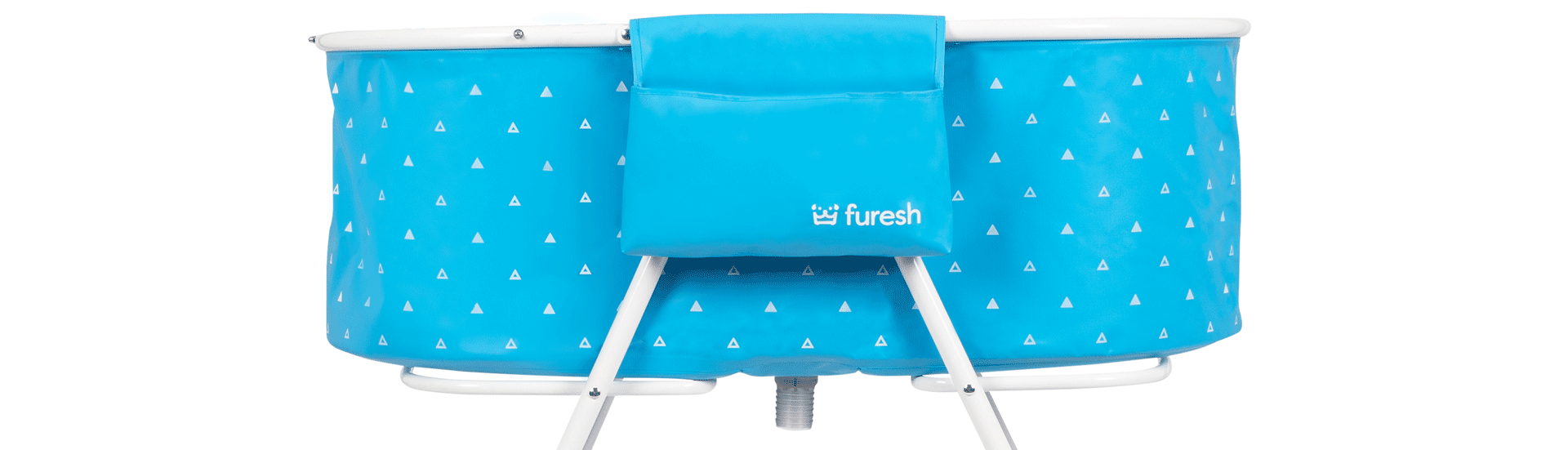 Blue Furesh portable and folding grooming tub