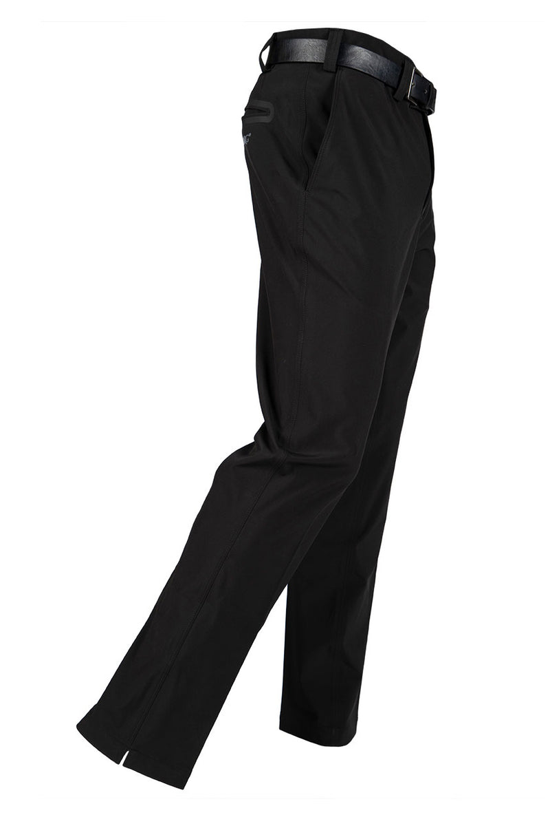 Winter Tech 1.0 - Black Water Resistant Stretch Trouser - Tapered Fit