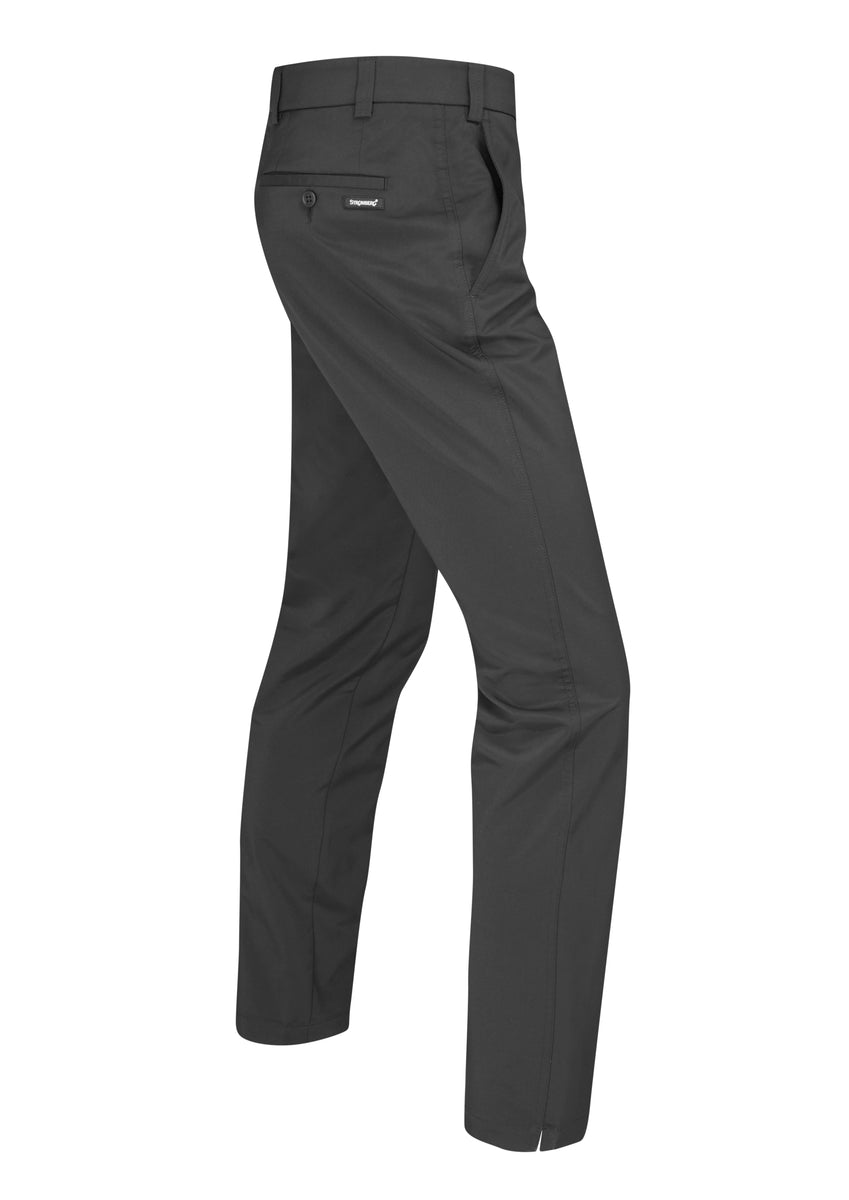 Hampton 1.0 - Black Technical Stretch Trouser - Tapered Fit