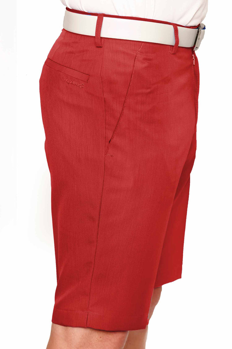 Sintra 2.3 Short - Red Technical Golf Short - Tapered Fit