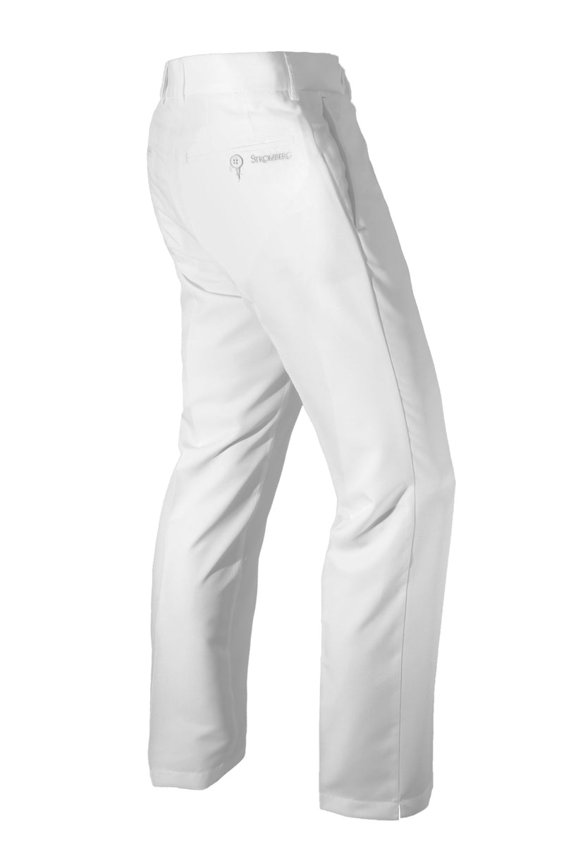 Sintra 2.1 - White Technical Golf Trouser - Tapered Fit